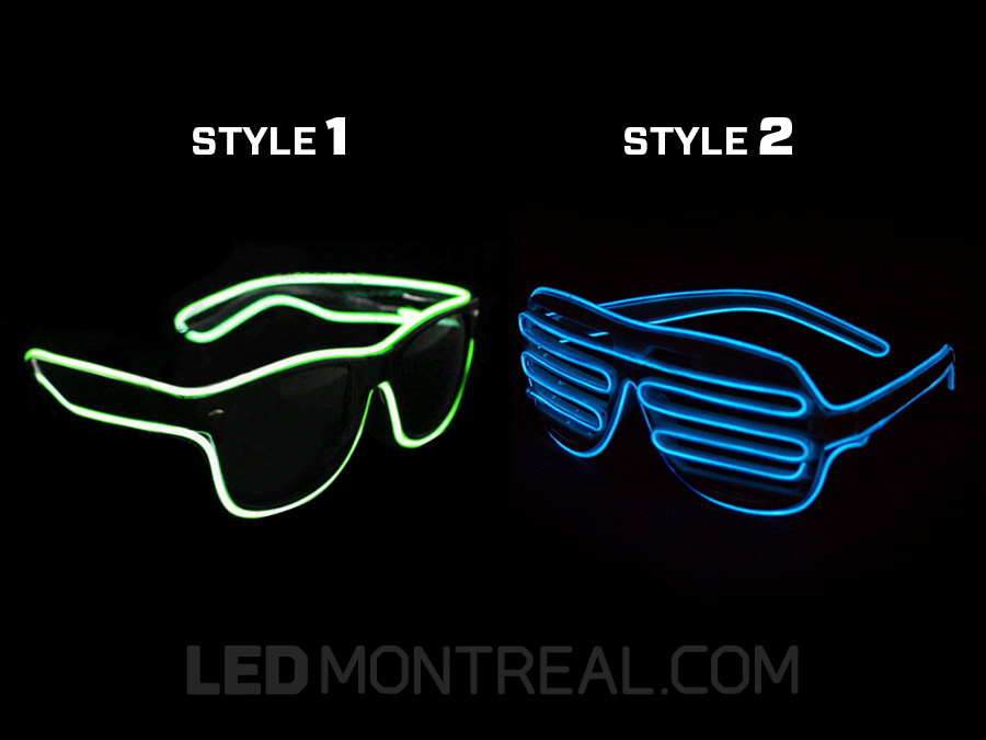 EL Wire Party Glasses - Magnet Montreal
