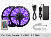 10 meter RGB LED strip Bundle: 2 x RGB LED Strip