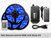 15 meter Sound control RGB LED Strip Kit