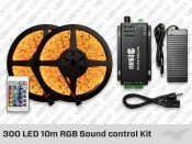 300 LED 10m Sound control RGB LED Strip Kit