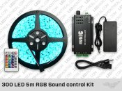 300 LED 5m Sound control RGB LED Strip Kit