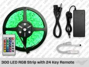 RGB LED Strip with 24 Key Remote (300 LED)