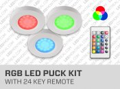 Under Cabinet RGB LED Puck Kit