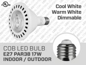 Ampoule LED COB PAR38 17W Dimmable