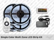 Submersible iP68 RF Multi Zone Single Color LED Strips Kit