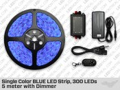 Single Color BLUE LED Strip, 300 LEDs