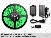 Single Color GREEN LED Strip, 300 LEDs