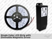Single Color LED Strip Kit with AC Dimmable Magnetic Driver