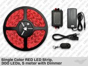 Single Color RED LED Strip, 300 LEDs
