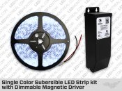 IP68 Single Color LED Strip Kit with Outdoor Driver