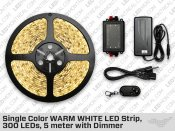 Warm White ip65 LED Strip kit (300 LED)