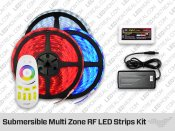 Multi Zone RF Submersible ip68 RGB LED Strips kit