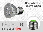 4W 12V Dimmable E27 LED Light Bulb