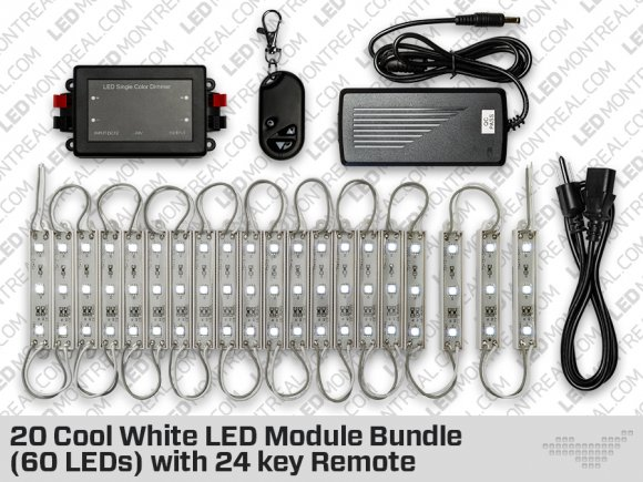 20 Cool or Warm White LED Modules Bundle (60 LEDs)