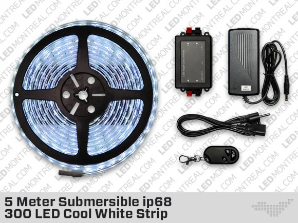 Cool White Submersible ip68 LED Strip kit (300 LED)