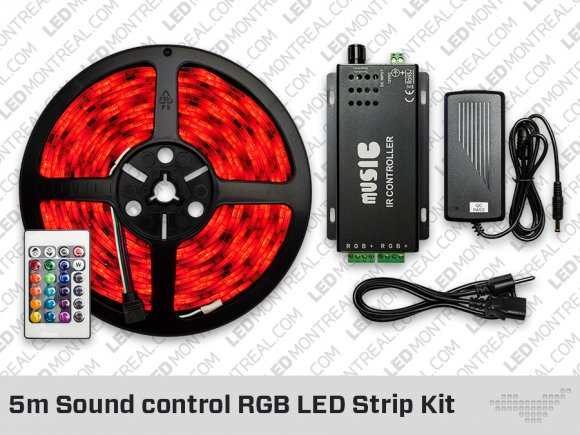 5 meter Sound Control RGB LED Strip Kit