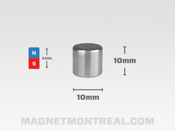 "Long Neodymium Cylinder Magnet, 25mm long (0.98"")"