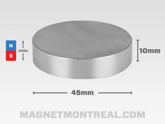"Extra Large Cylinder Neodymium magnet, 4.5cm wide (1.77"" wide)"