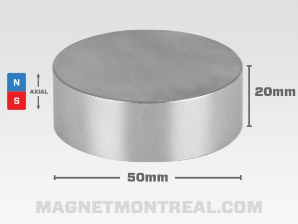 "Extra Large Cylinder Neodymium magnet, 5m wide (1.97"" wide)"