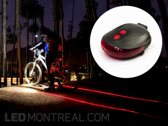 Bike Tail LED and Laser Light Accessory