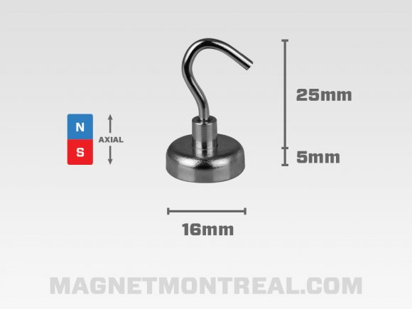 Small Neodymium Mounting Hook Magnet