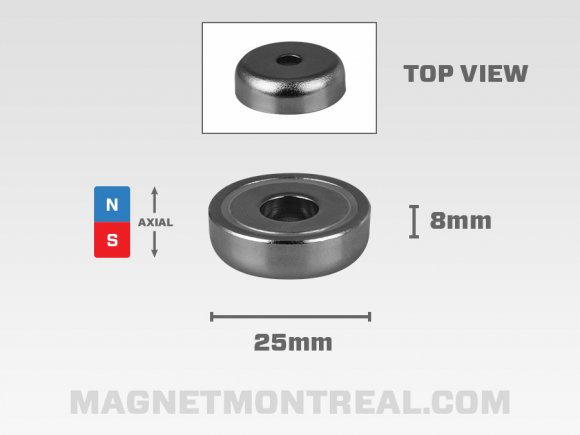 Medium Neodymium Mounting Ring Magnet