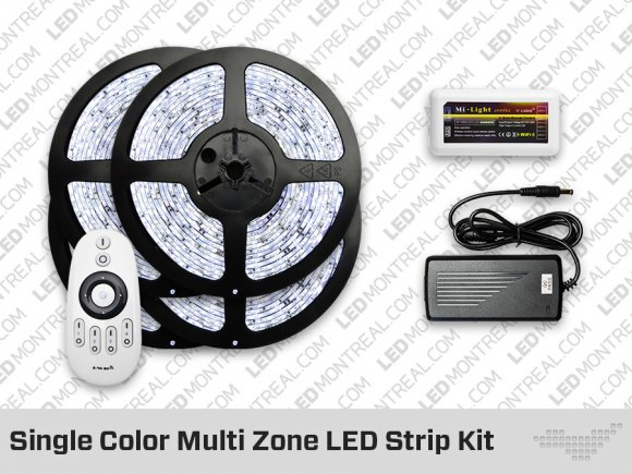 RF Multi Zone Single Color LED Strips Kit