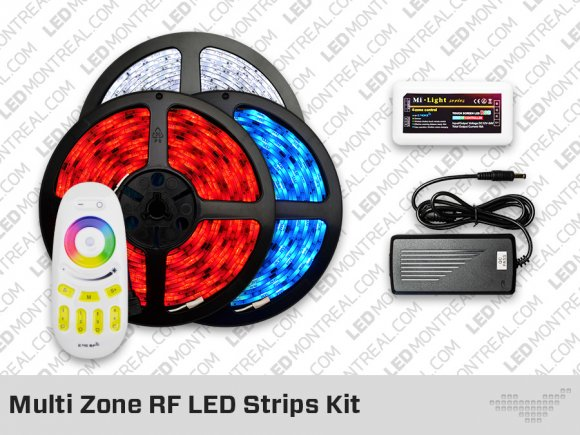 RF Multi Zone RGB LED Strips Kit
