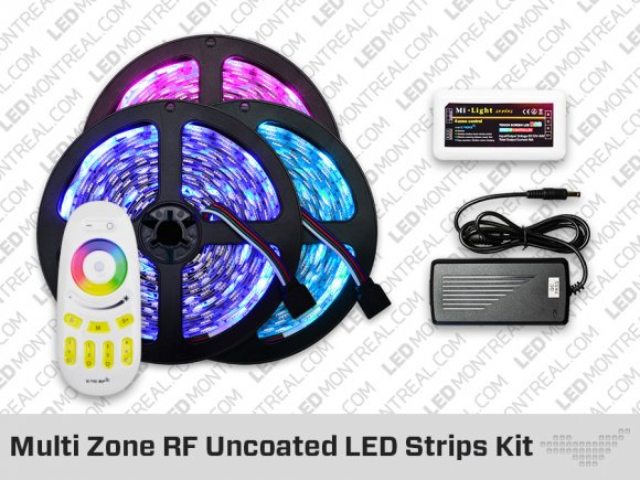 RF Multi Zone Uncoated IP20 RGB LED Strip Kit