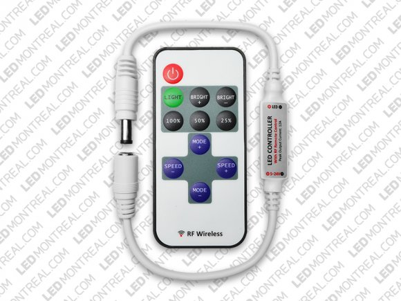 11 key RF Remote and Controller for Single Color LED Strips