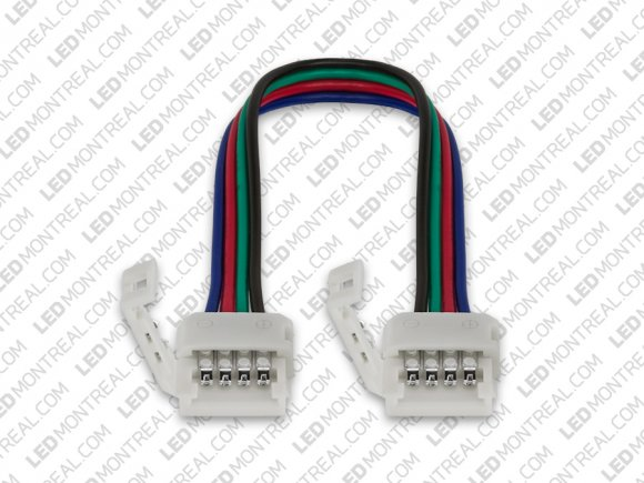 RGB LED Strip Connectors: quick connect to quick connect