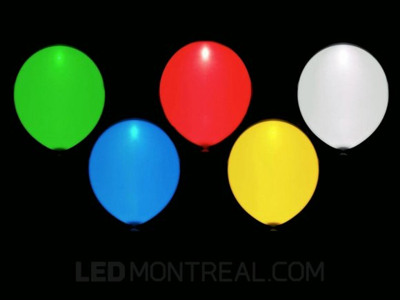 RGB LED Light balloons (5) various colors