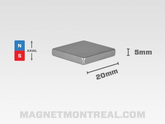 "Gros Aimant Rectangle au Néodymium de 3cm de large (1.18"")"