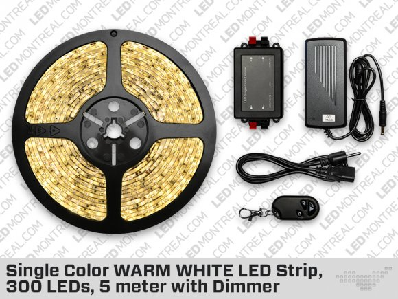 Kit Ruban LED ip65 Blanc Chaud (300 LED)