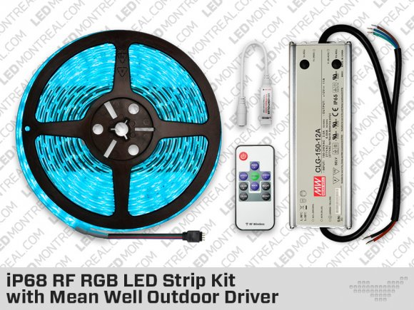 IP68 RGB LED Strip Kit with Mean Well Outdoor Driver
