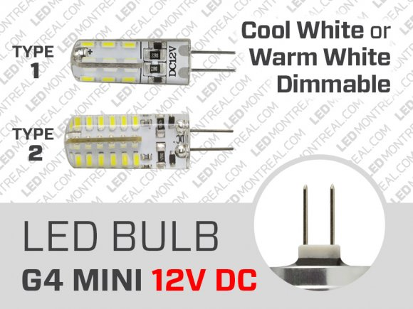 LED Bulb MINI G4 12V DC Dimmable