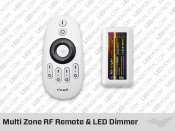 RF Multi Zone Remote and-or Controller for Single Color LED Strips