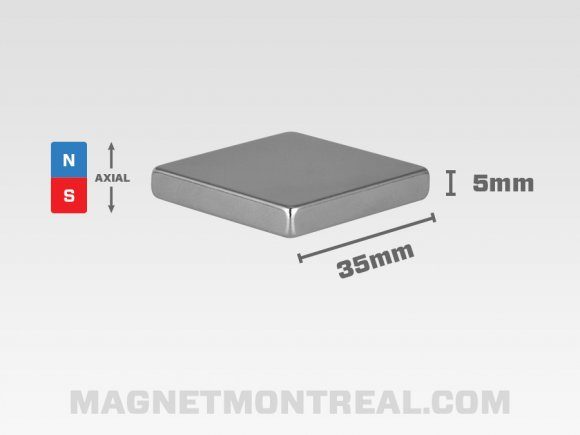"Extra Large Rectangle Neodymium magnet 4cm wide (1.57"" wide)"